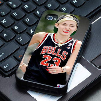 Hard Plastic Case - Miley Cyrus Chicago Bulls NBA - iPhone 4/4s, iPhone 5, iPhone 5s, iPhone 5c, Samsung S2, S3, S4