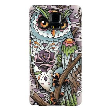 Sugar Skull Owl Samsung Galaxy Note 4 Case