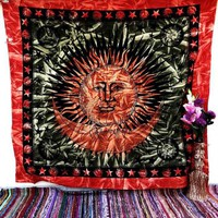 Sun and Moon Bedspread Indian Tapestry Wall Hanging Dorm Decor