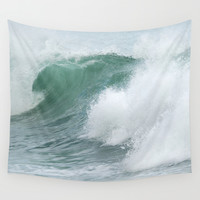 Sea wave. Vintage dreams Wall Tapestry by Guido Montañés