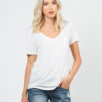 Simple Pocket Tee - White