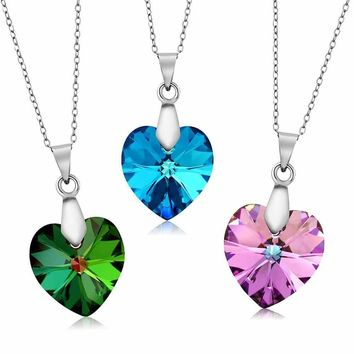Nirano Collection 18mm Heart Pendant Created with Swarovski® Crystals