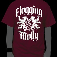 Flogging Molly - Royal Lion T-Shirt, Maroon