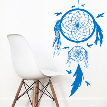 Wall Decals Dream Catcher Amulets Indian Mandala Floral Design Feather Birds Yoga Gym Home Vinyl Decal Sticker Bedroom Interior Decor kk714
