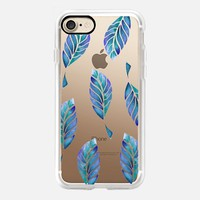 leaves in blue iPhone 7 Carcasa by Julia Grifol Diseñadora Modas-grafica | Casetify