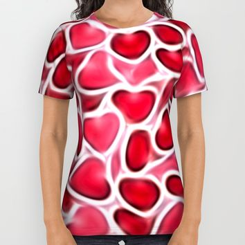 Candy Hearts All Over Print Shirt by Kirsten Star