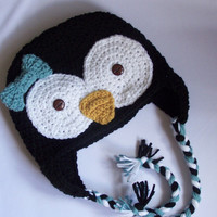 toddler girl crochet penguin animal hat 12 by stitchesbystephann