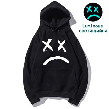 lil peep Luminous xxxtentacion the weekend lil uzi vert hoodies men pullover sweatshirt male rapper sad boy Stranger things rap