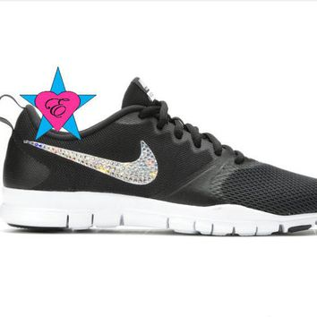 fb6cd5c746a Bling out Nike Bedazzled Women s Nike Flex Essential