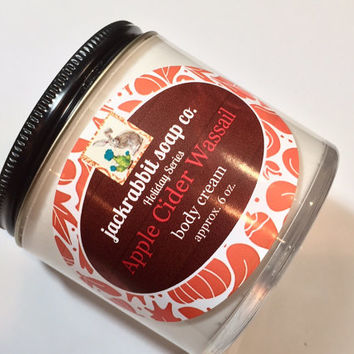 Apple Cider Wassail Body Cream | Fall Lotion | Apple Lotion | Clove Lotion | Cinnamon Lotion | Shea Lotion | Hand Body Cream | Body Lotion
