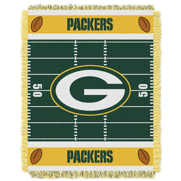 Green Bay Packers NFL Triple Woven Jacquard Throw (Field Baby Series) (36x48)