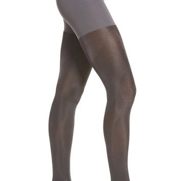 SPANX® Metallic Shimmer Mid Thigh Shaping Tights | Nordstrom