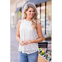 Love Runs Deeps Front Seam Lace Top : Ivory