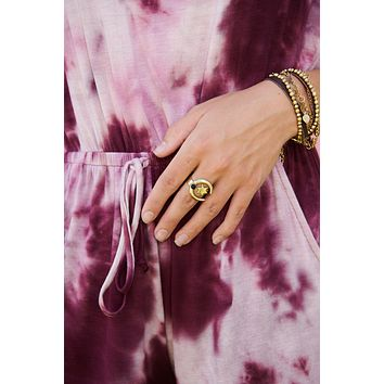 Sky Walker Statement Ring (Gold/Black)