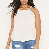 Plus Size Lace-Paneled Cami | Forever 21 PLUS - 2000187126