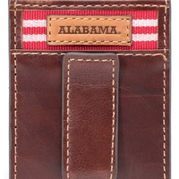 Men's Jack Mason Brand 'Alabama Crimson Tide - Tailgate' Money Clip Card Case