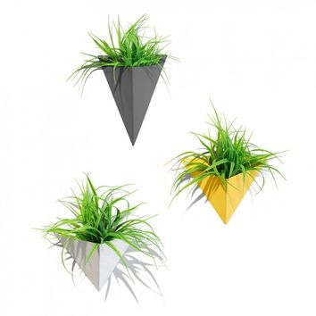Geo Planter - modern geometric wall planters | Lightly