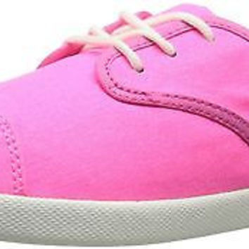 Sanuk Kids Lil Mollie Laced Shoe (Toddler/Little Kid/Big Kid), Hot Pink, 5 M ...