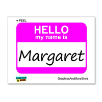 Margaret Hello My Name Is Sticker