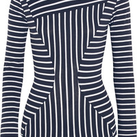 Body Editions - Bom striped stretch-cotton jersey bodysuit