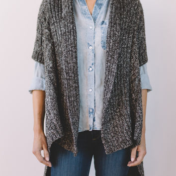 Shortie Ribbed Cardi