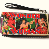Wonder Woman Zip Around Wristlet