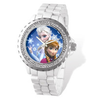 Disney® Frozen White Crystal Bezel Watch