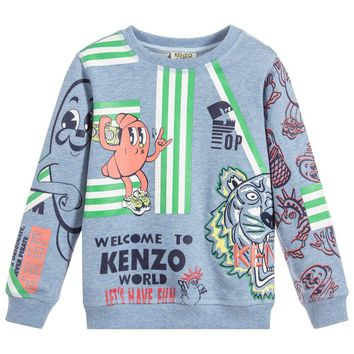Baby Boys Colorful 'Food Fiesta' Tiger Sweatshirt (Mini-Me)