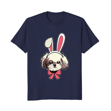 Funny Shih Tzu Dog Happy Easter Decorations 2018 Shirt