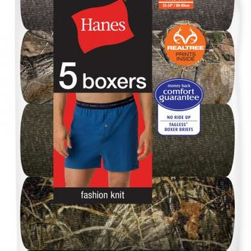 Hanes® Realtree Camo Boxers and Boxer Briefs