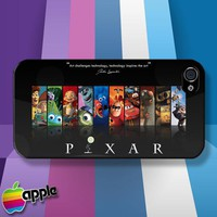 Disney Pixar Cartoon Characters iPhone 4 or iPhone 4S case Cover