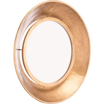 Gold Ovali Wall Mirror, Small