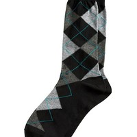 Banana Republic Factory Argyle Sock Size One Size - Black
