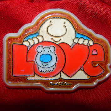Vintage 1987 Ziggy Pin, American Greeting Cards, Love, Valentines Day Pin, Sweetheart Pin
