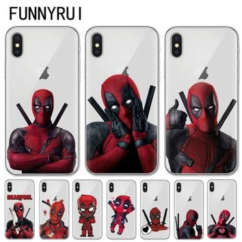 Deadpool Dead pool Taco FUNNYRUI Super Cool Marvel  Super Hero Soft silicone Phone Case Cover For iPhone X 10 8 8Plus 7 7Plus 6 6S Plus 5 5S SE AT_70_6