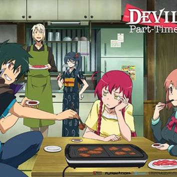 Yakiniku Party - Wall Scroll - The Devil is a Part-Timer