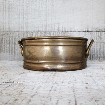 Brass Bowl Vintage Brass Planter Small Planter Garden Container Brass Succulent Planter Succulent Pot Gold Planter Brass Flower Pot