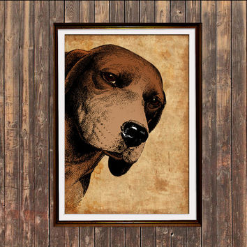 Beagle print Dog art Animal poster Modern decor SH7