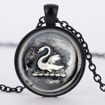 Once upon a time Emma Swan pendant necklace vintage glass pendant Necklace jewelry