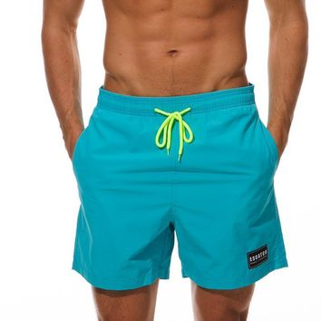 Solid Board Shorts- Men's Quick Dry Swim Shorts