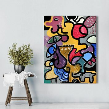 Wall Pictures For Living Room Canvas Art Abstract Animal Painting Picassos Cat Woman Home Decor Landscape Painting