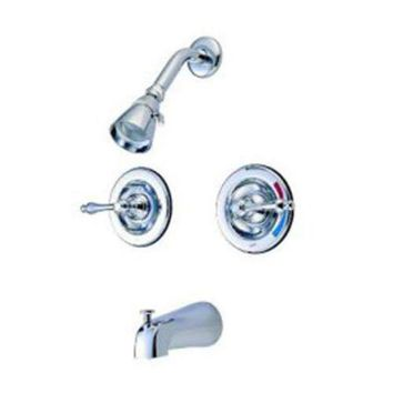 DCCK1IN elements of design eb661al new orleans chrome pressure balanced tub and shower faucet with metal lever