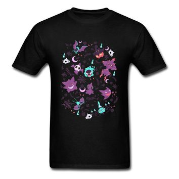 T Shirt  Lavendertown Black T-shirt Men Clothing Pocket Monster Tops Tees Cotton Tshirt Kawaii Anime LoverKawaii Pokemon go  AT_89_9