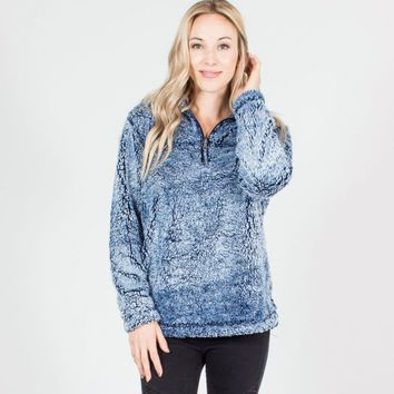 Two Tone Sherpa Pullover Sweater