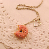 doughnut necklace - food jewelry