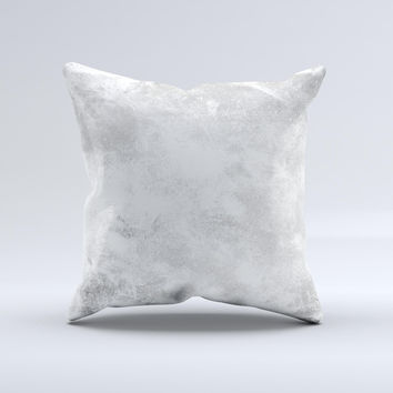 White Cracked Rock Surface ink-Fuzed Decorative Throw Pillow