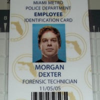 Dexter Morgan Employee ID Badge - Forensics Technician - Miami Metro