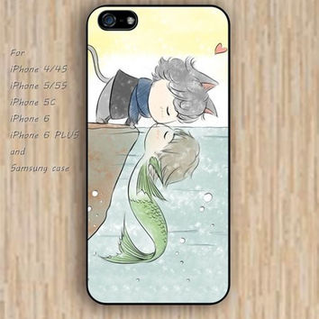 iPhone 5s 6 case colorful cartoon fish case kiss cat phone case iphone case,ipod case,samsung galaxy case available plastic rubber case waterproof B275