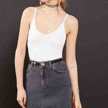 Ecote Cross-Back Cupro Cami - Urban Outfitters