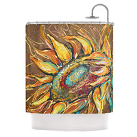 "Brienne Jepkema ""Sunflower"" Yellow Flower Shower Curtain"